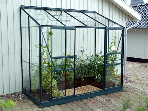 Greenhouse Vitavia Ida Lean to 4x8 Green