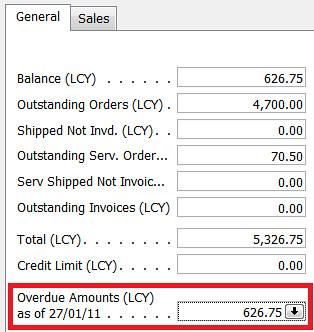 Customer - Balance Due (LCY)