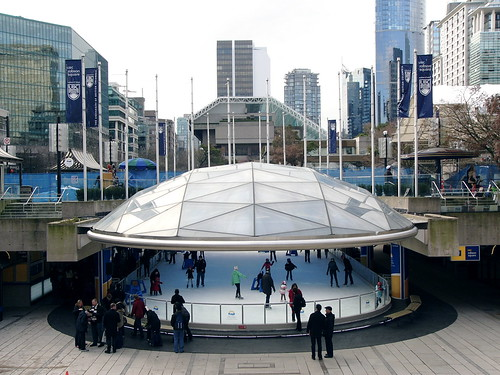 Skating rink at Robson Square officially opens