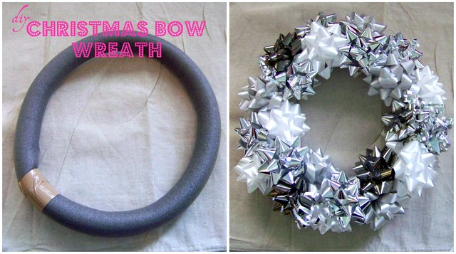 christmas bow wreath