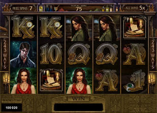 Immortal Romance gamble feature