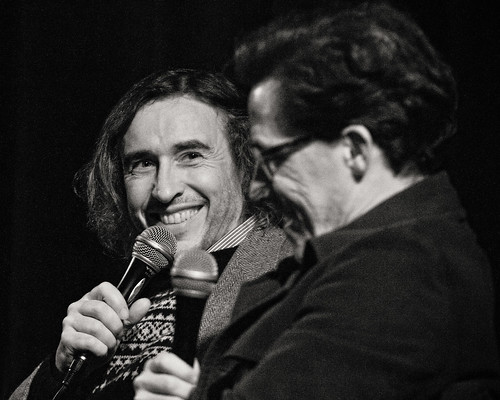 Steve Coogan and Rob Brydon. 'The Trip' Q&A at the Duke of Yorks for Amaze. Dec 2011 by Edward Moore as edshots