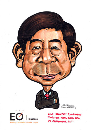 Singapore Minister Khaw Boon Wan caricature for EO Singapore