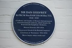 Photo of Dan Godfrey  blue plaque