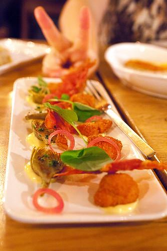 Sweetbreads & artichokes