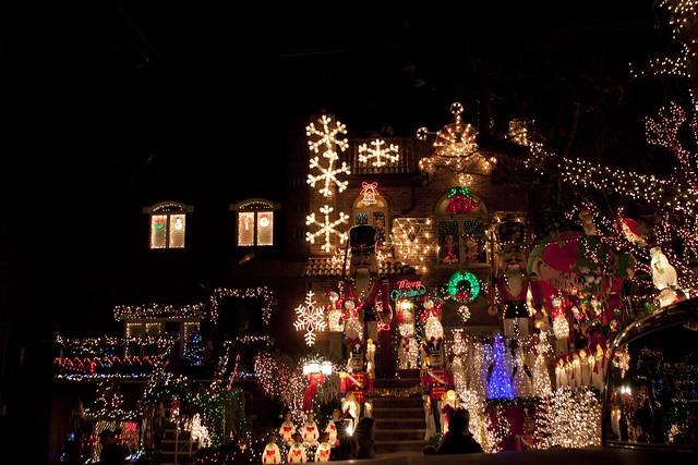 Christmas Lights Display in Dyker Heights, Brooklyn