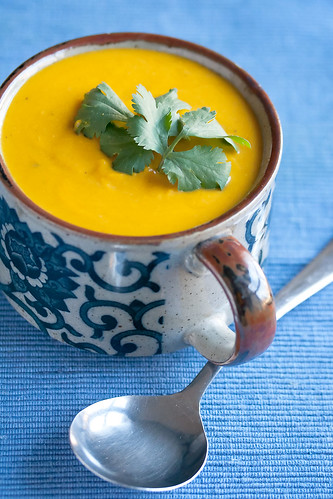 Spicy Kabocha Squash Soup