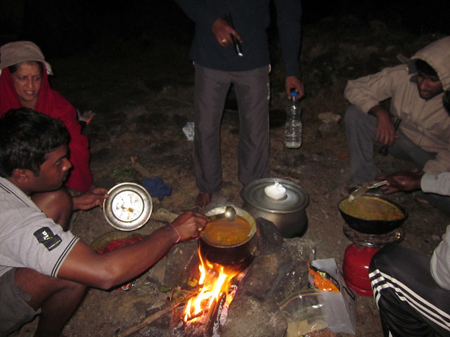 Kumara_Parvatha_Trek_Pushpagiri_Top_Dinner