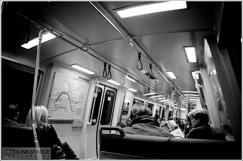Commute B&W.