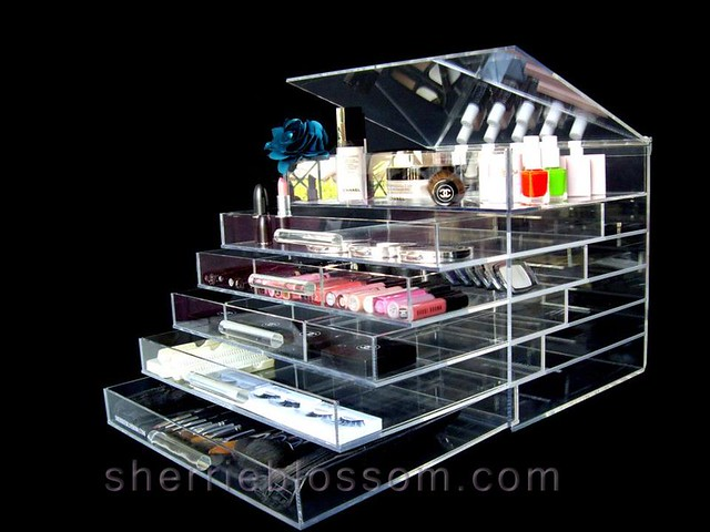ICEbOX WIDE acrylic makeup organizer with drawers - Flickr ...