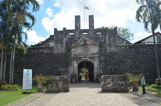 entrance to Fort San Pedro in Cebu City in the Philippines
