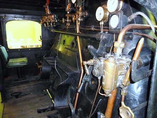 Inside Steam engine Cab, Riverside Museum