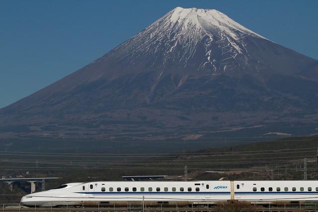 Shinkansen Series N700 with Mt.Fuji