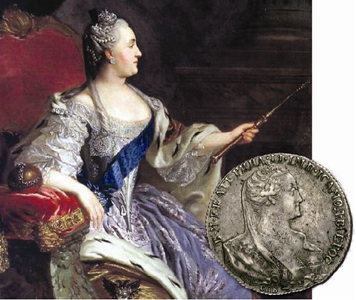 1766 PATTERN ROUBLE OF CATHERINE II