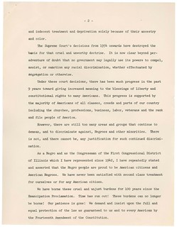 Remarks of Congressman William Dawson on Presentation of Petition in Support of House Resolution 7453, 10/25/1963 (page 2 of 2)