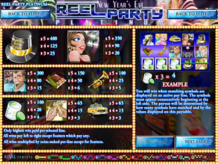 Reel Party Platinum Slots Payout