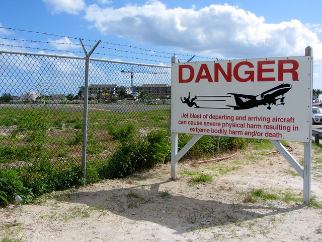 Airport Danger Jet Blast Sign