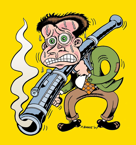 Peter Bagge self-portrait
