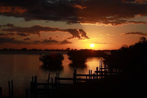 sunset sky water silhouette clouds canon reflections florida flutterbye216