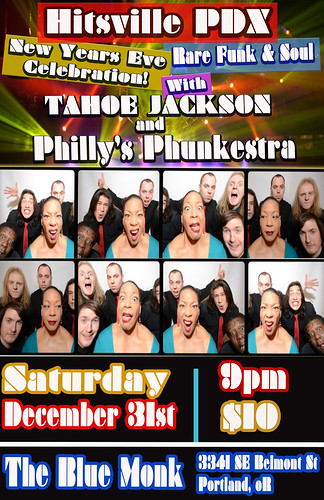 Hitsville PDX - New Years Eve Celebration w/ Tahoe Jackson & Philly's Phunkestra + Guests @ The Blue Monk | Rare Funk & Soul Music