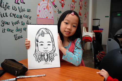 caricature live sketching for birthday party 2nd Oct 2011 - 5