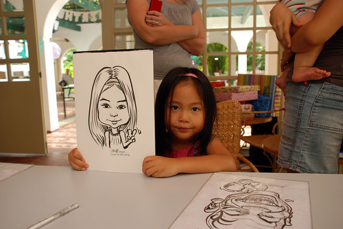 caricature live sketching for children birthday party 08 Oct 2011 - 7
