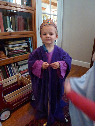One more of Cooper. He looks so regal in his purple cloak.