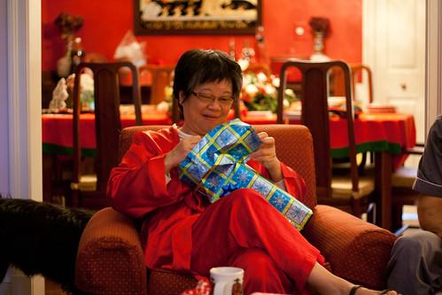 Mom on Christmas