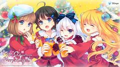 111227 - 台灣微軟Silverlight看板娘藍澤光的【耶誕節+跨年】四姊妹家族特製桌布,現正開放下載中!