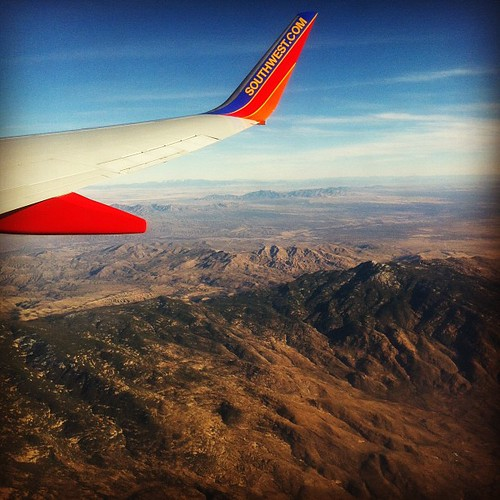 Denver-bound. Obligatory airplane wing / view photo.