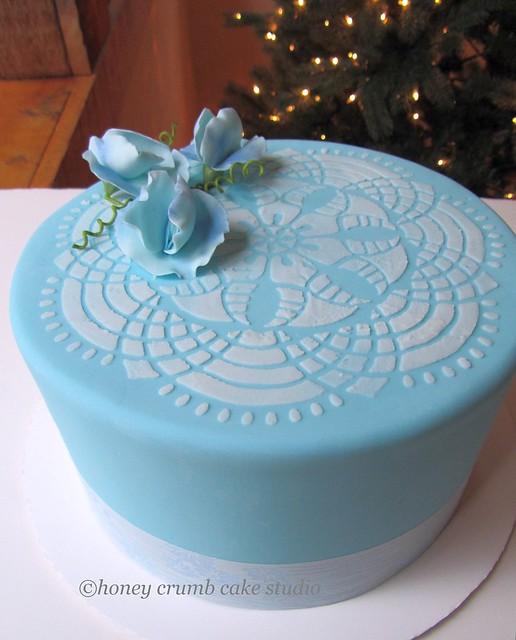 Tiffany Blue Lace Wedding Shoes