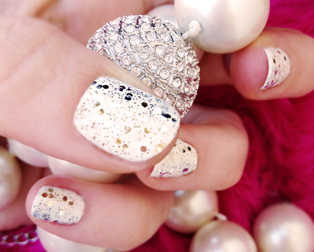 diamonds -pearls - nails- glitter