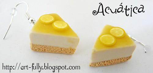 Pendientes de tarta de limón
