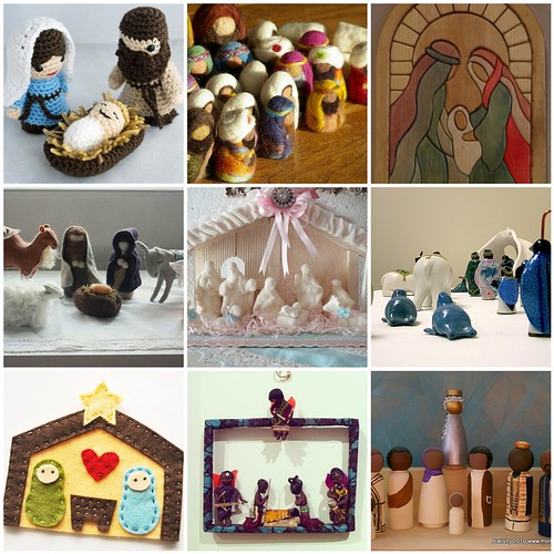 Friday Inspiration: handmade nativities