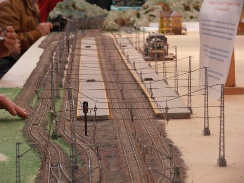 Vista de la estación principal de la maqueta