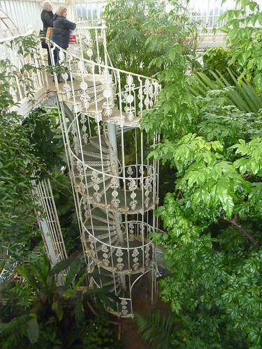Glasshouse spiral stairs