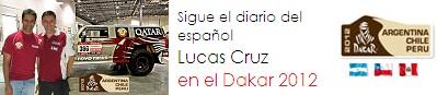 Sigue el diario del español Lucas Cruz en el Dakar 2012