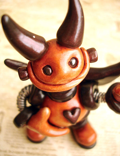 Baby Devil Robot Neville  by HerArtSheLoves