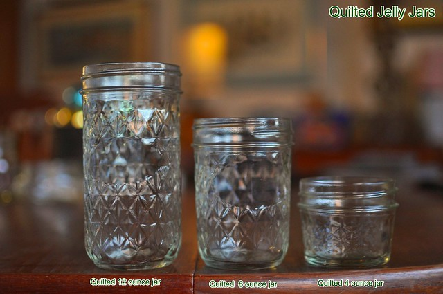 quilted jelly jars