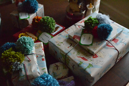 gifts with pom poms