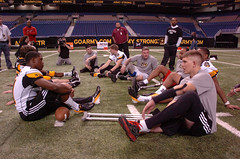 Resting at All-American Bowl