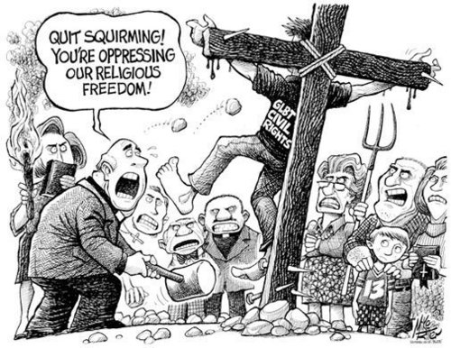 ‎[Image] Quit Squirming! You're oppressing our religious freedom!