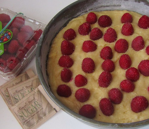 Raspberry Buttermilk Cake, Oven-ready