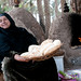 Egyptian woman with Egyptian flatbread