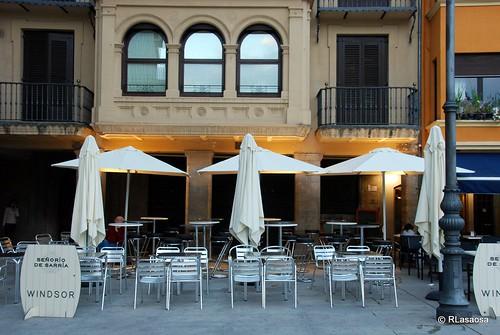 Terraza del bar Windsor en la Plaza del Castillo