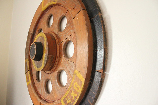 Train Wheel Wall Art - side view