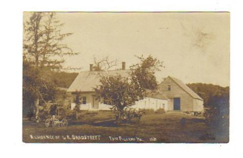 vintage postcard of Bradstreet homestead
