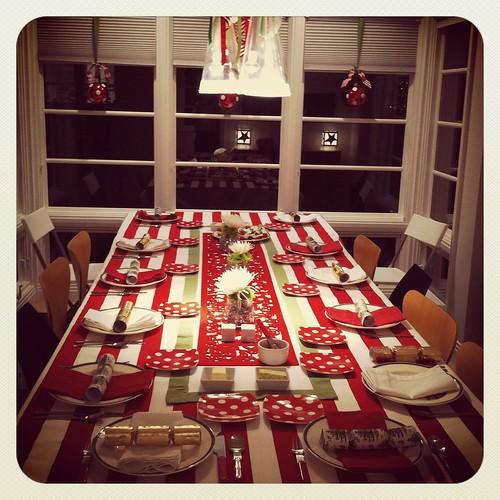 xmas eve table