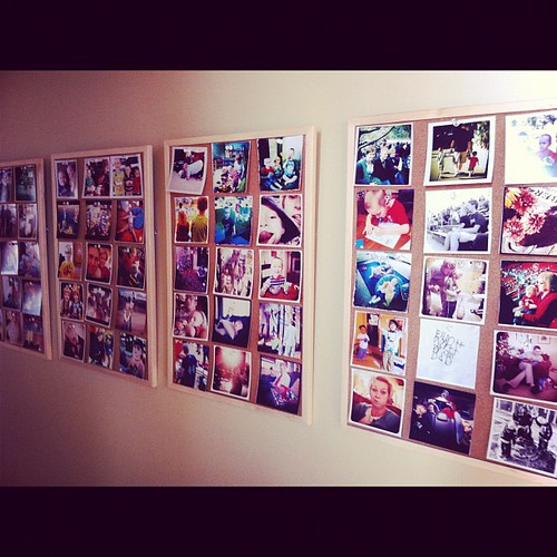 60 new Instagram pictures on the photo wall today. They make me happy.