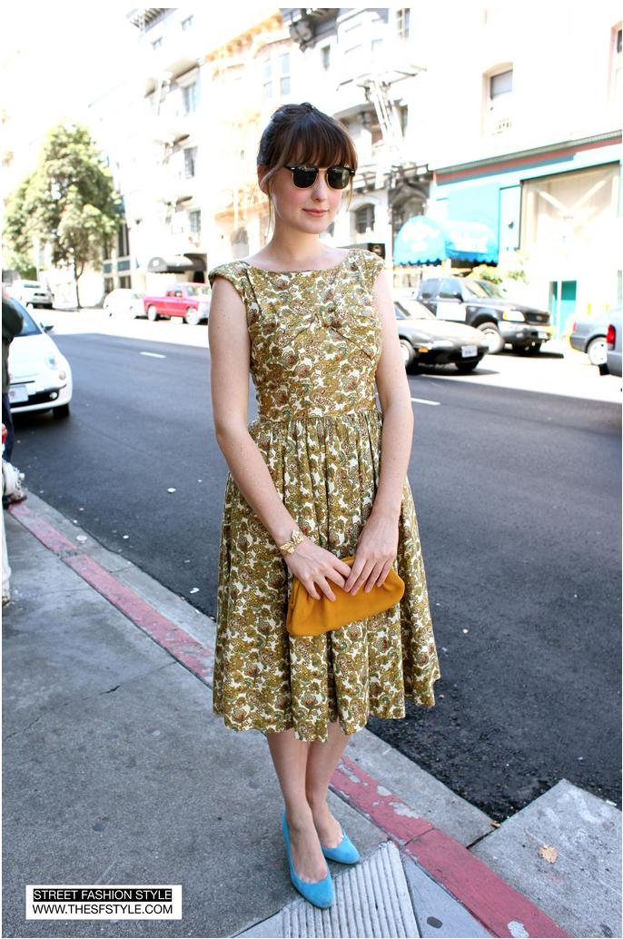 paisley vintage A line dress